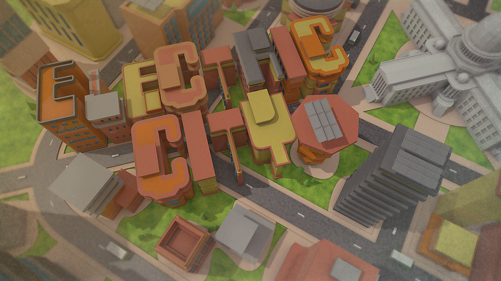 Electric City wallpaper